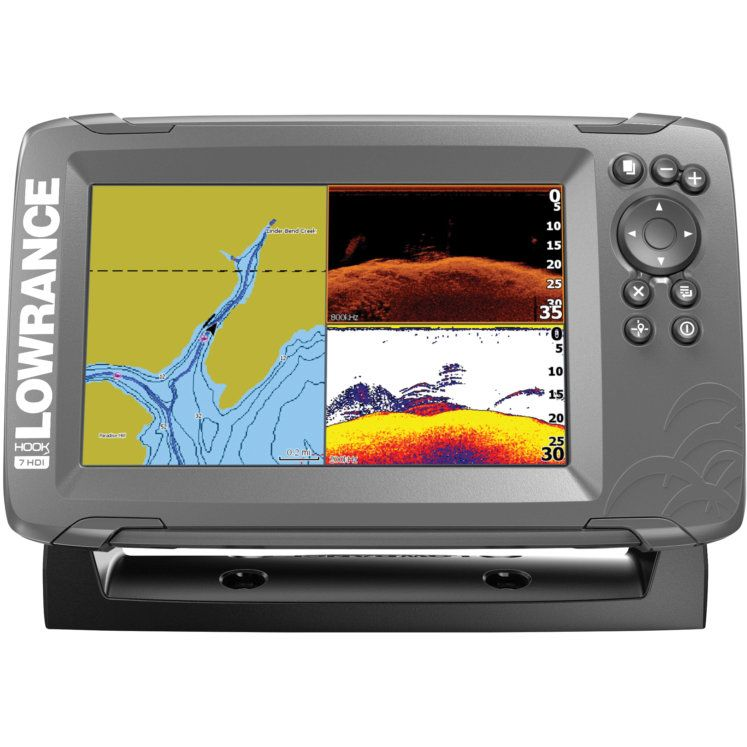 Lowrance HOOK2 7 SplitShot w/ US Inland Maps Transducer by