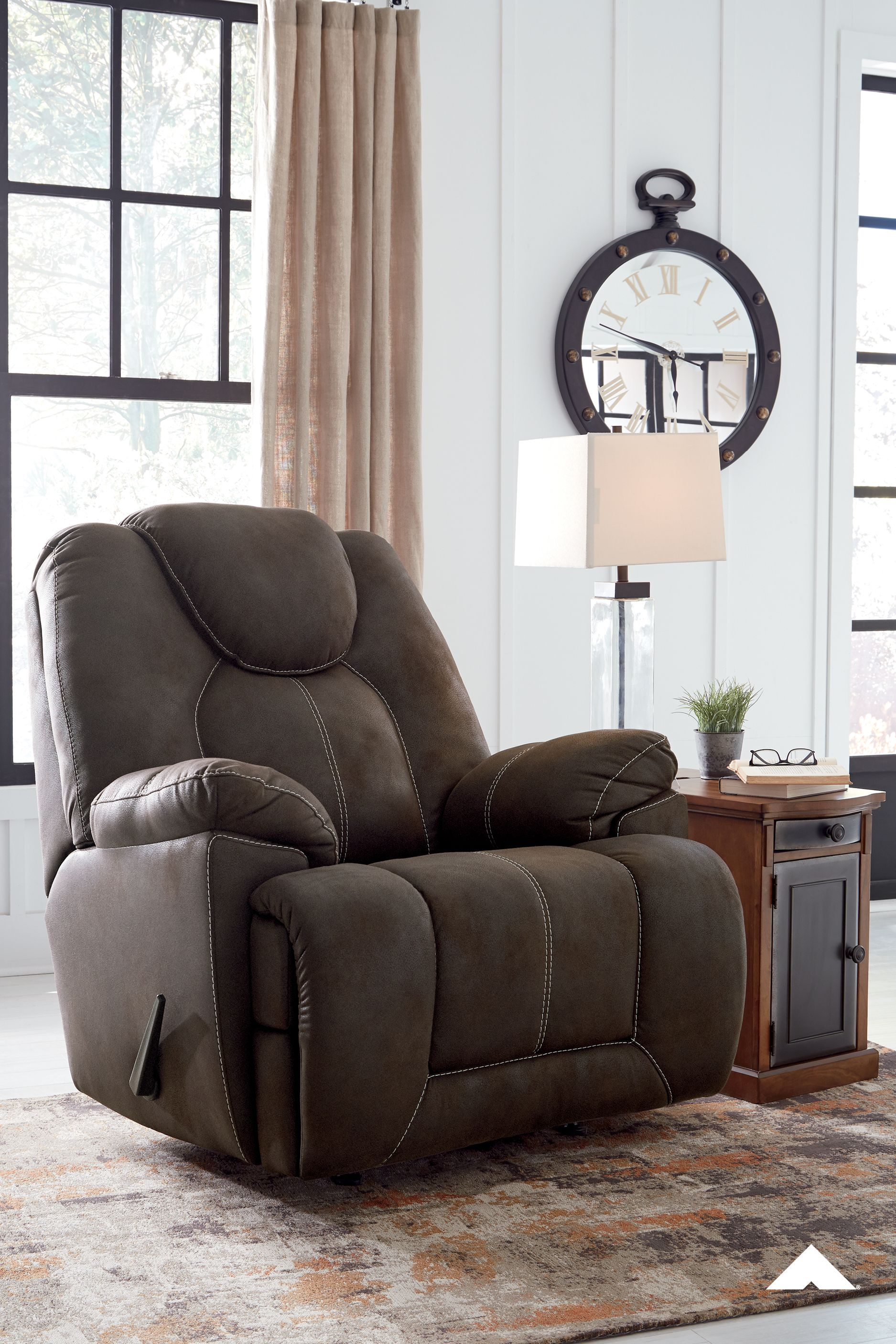 Warrior Fortress Coffee Rocker Recliner From Ashley Furniture