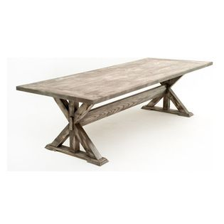 Reclaimed Wood Trestle Dining Table - Handcrafted from sustainable hardwoods in custom sizes and finishes.  Proudly handmade in USA.
