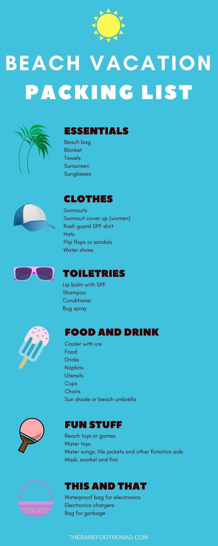 The Perfect Summer Beach Vacation Packing List #summervacationstyle