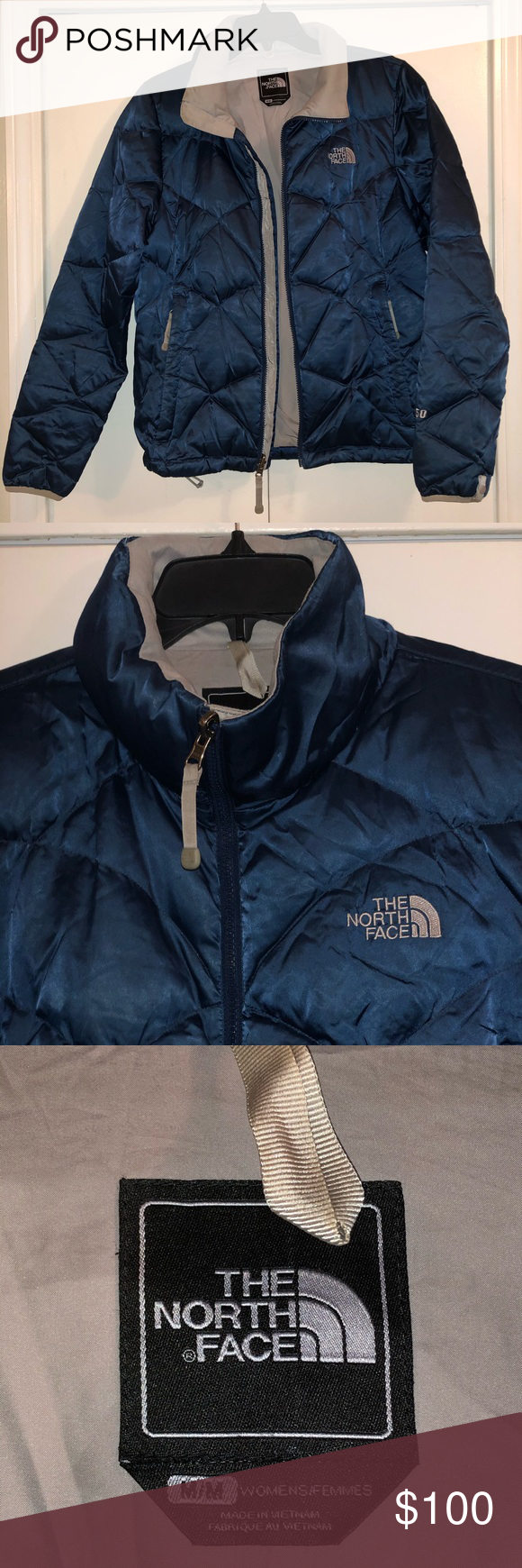 The North Face 550 Navy Down Puffer 550 Jacket Puffer Jacket Women Clothes Design Jackets For Women [ 1740 x 580 Pixel ]