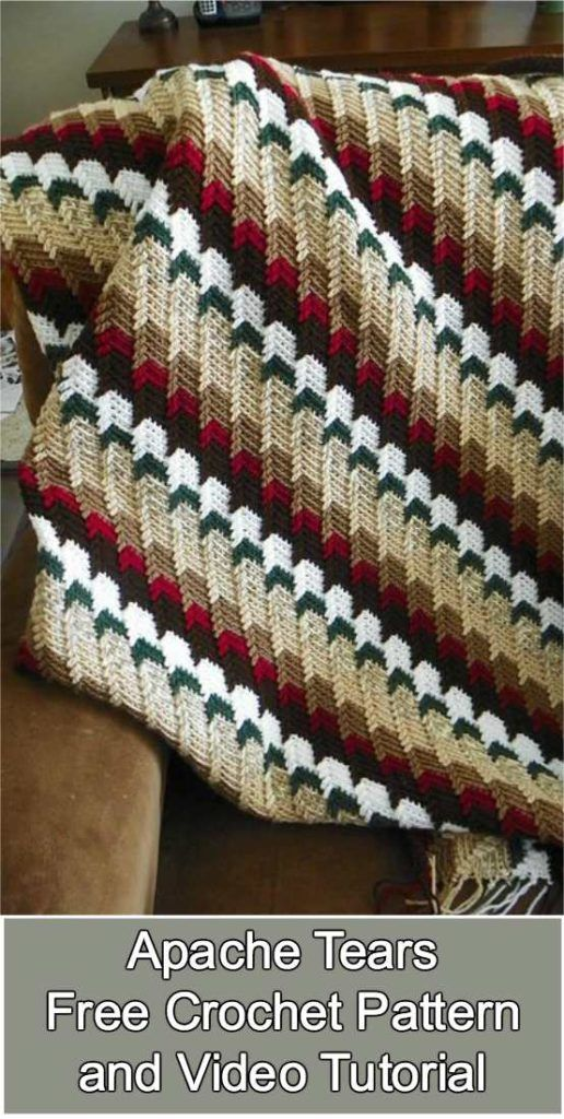 Apache Tears Afghan [Free Crochet Pattern and Video Tutorial ...