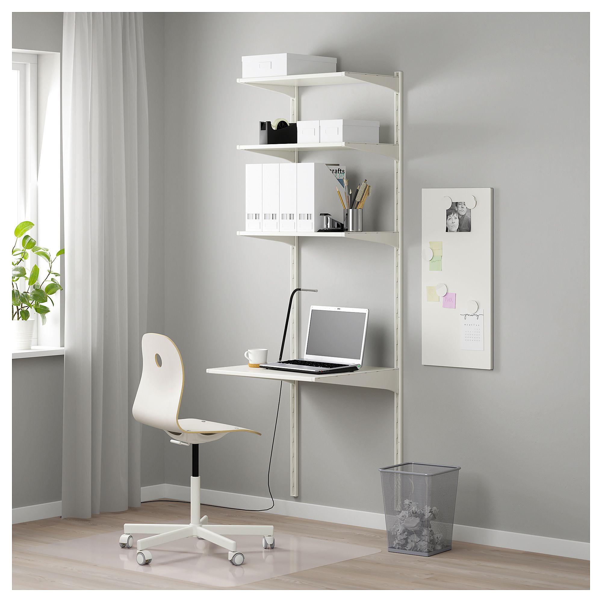 ALGOT Wall upright/shelves white 26x24x77 1/2