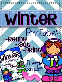 This free download includes (bonus!) sample printables from my Winter Printable pack!  Just download, print, and use!  You can find the full packet by clicking HERE!!  Skills Included in this Sampler: Graphing Number Sense Number Order ABC Order Sentence Editing Digraphs