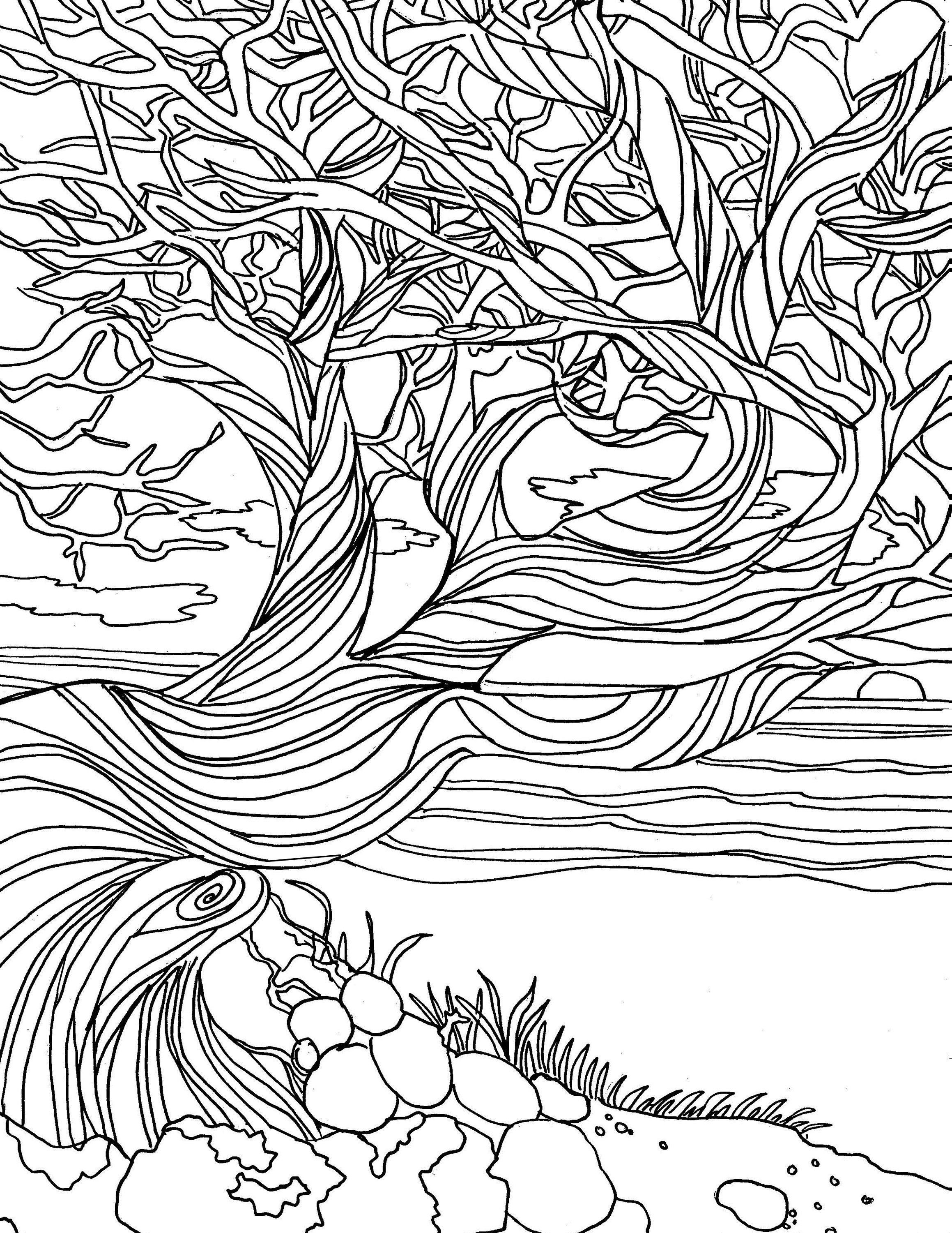 Printable Adult Coloring page coloring pages nature ...