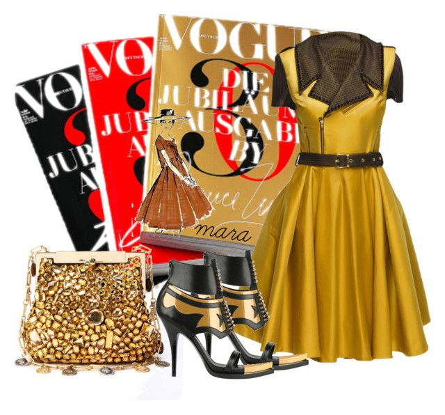 """""""Golden Days"""" by marastyle ❤ liked on Polyvore featuring Lattori and Givenchy"""