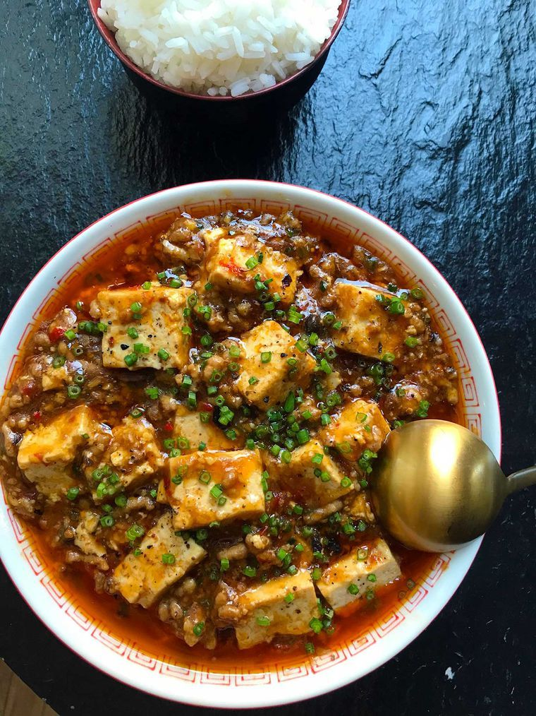 Mapo tofu in 2020 tofu recipes tofu tofu dishes