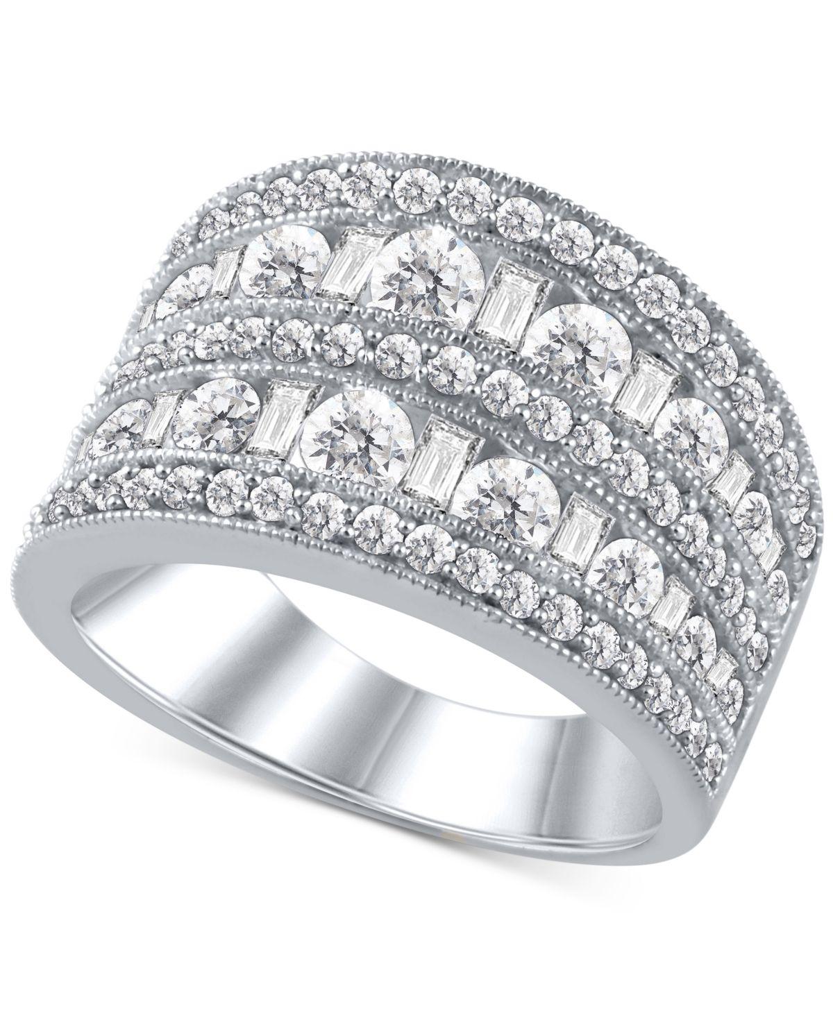 Macy's Diamond MultiRow Statement Ring (2 ct. t.w.) in
