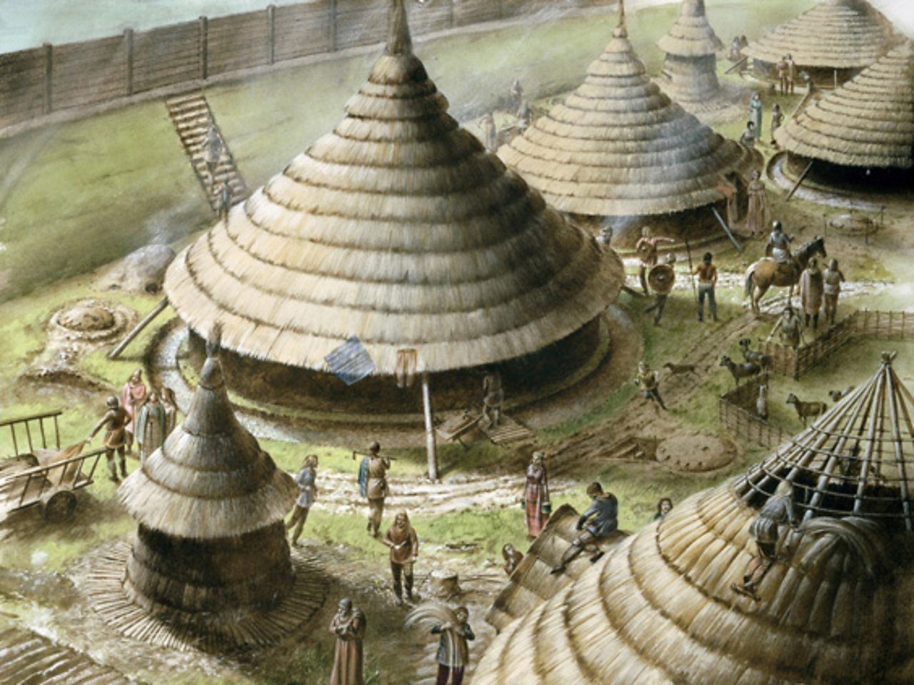 How did iron age people live iron age ancient celts