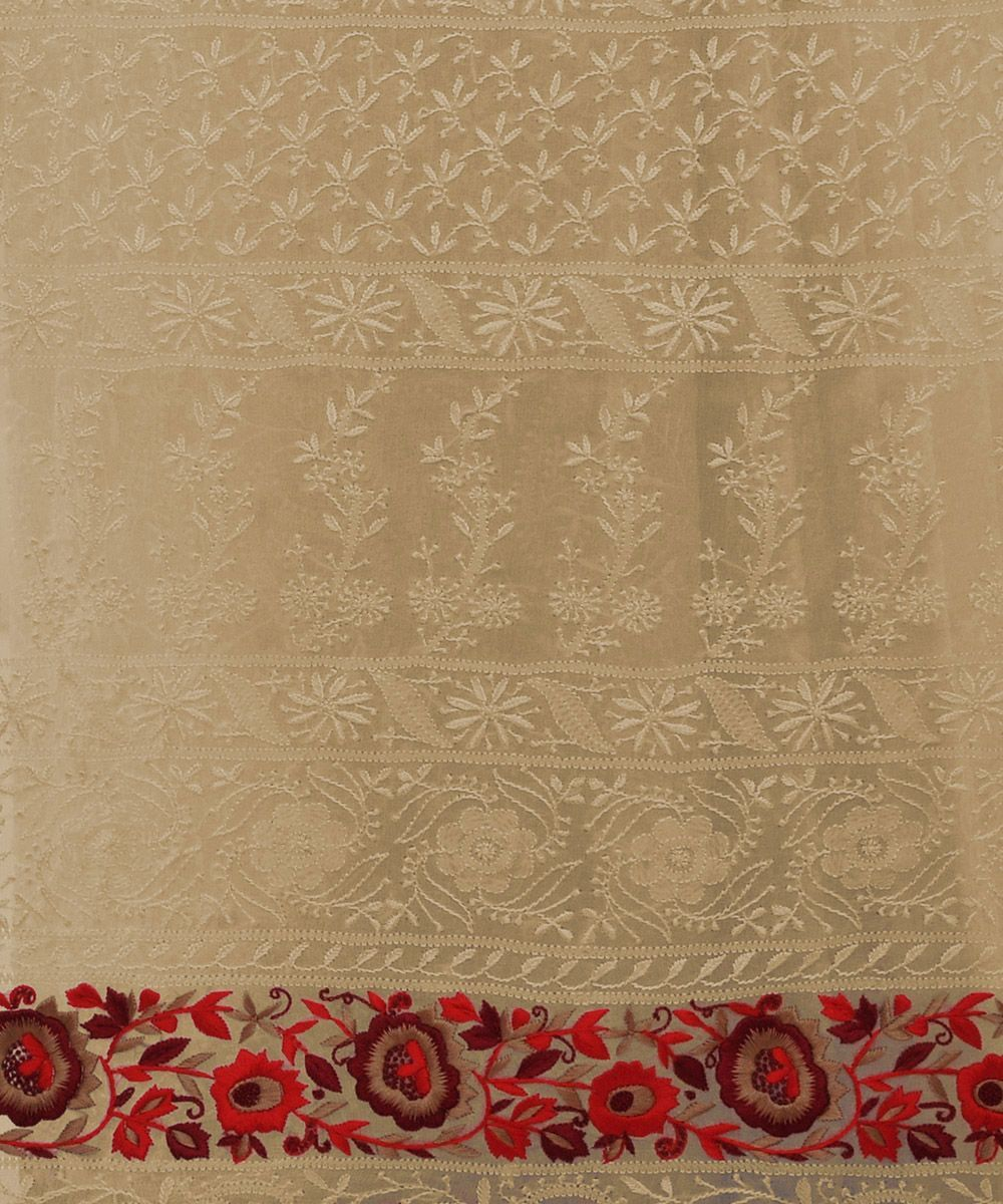 Masterpiece heirloom parsi gara chikankari hand embroidered masterpiece heirloom parsi gara chikankari hand embroidered saree pashmina shawlhand embroidery patternsembroidery bankloansurffo Images