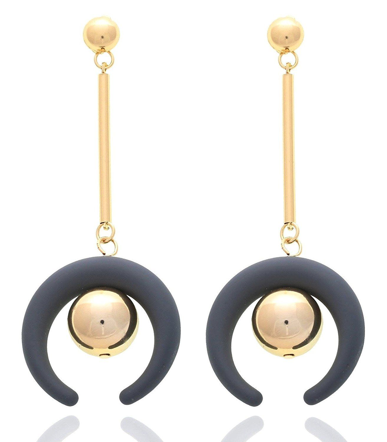 83% off ) Crunchy Fashion Jewellery Stylish Gold Plated Earrings ...