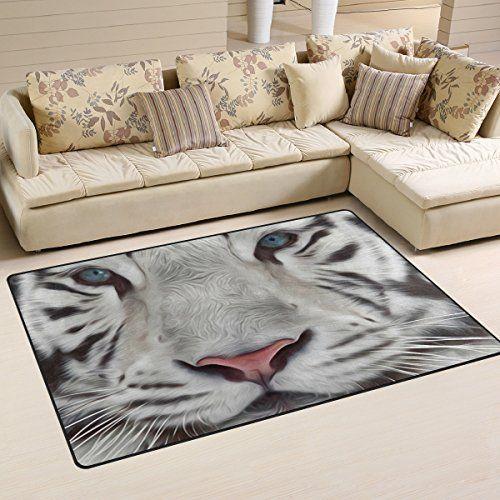 Naanle œil de tigre antidérapant Zone Tapis pour salon salle de