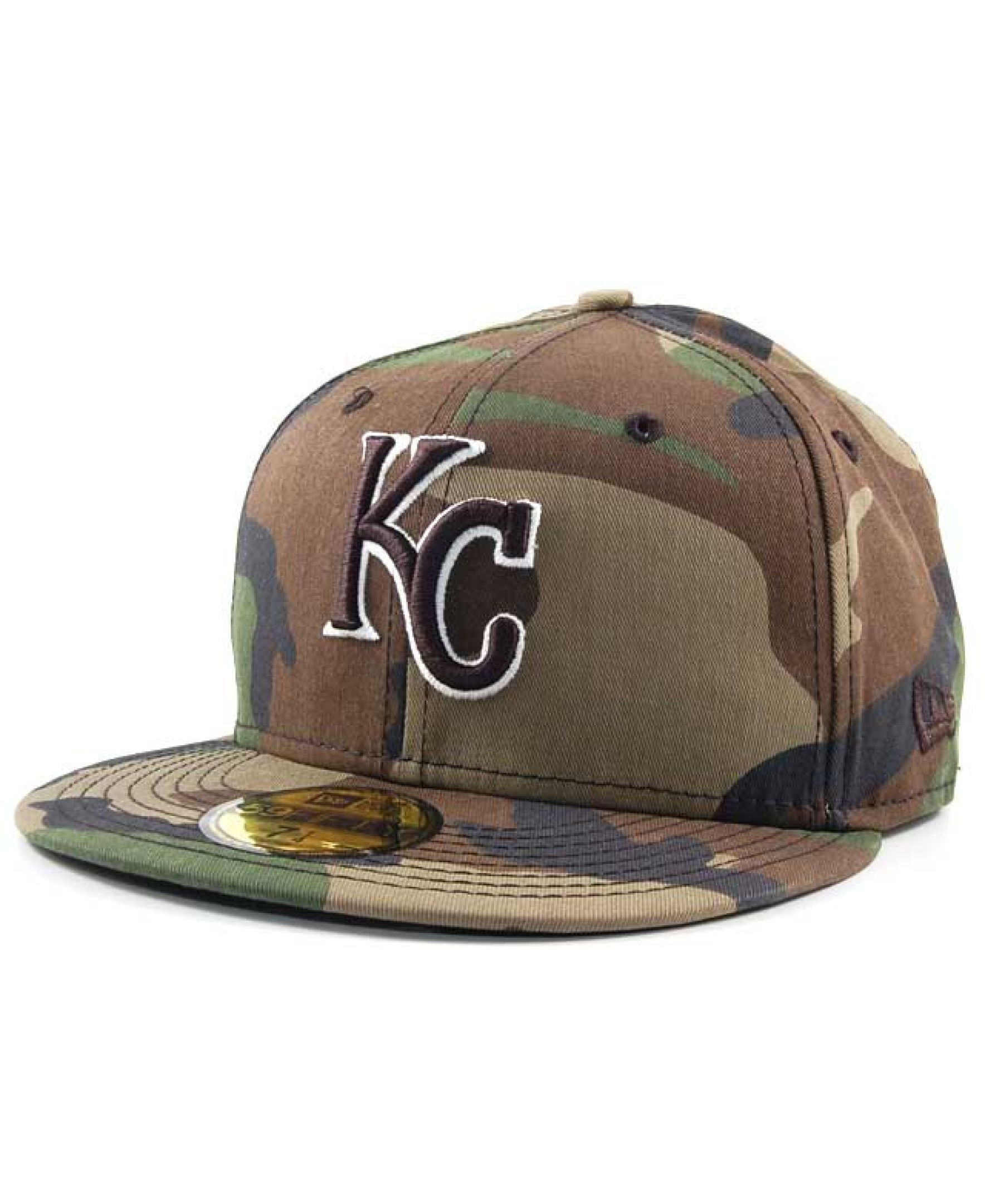 New Era Kansas City Bc Camo 59FIFTY Cap  4a5b3d8b60b