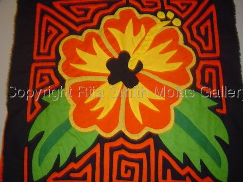 Flower Mola Fabric Art Textiles Kunas San Blas Panama 160 | Molas ...