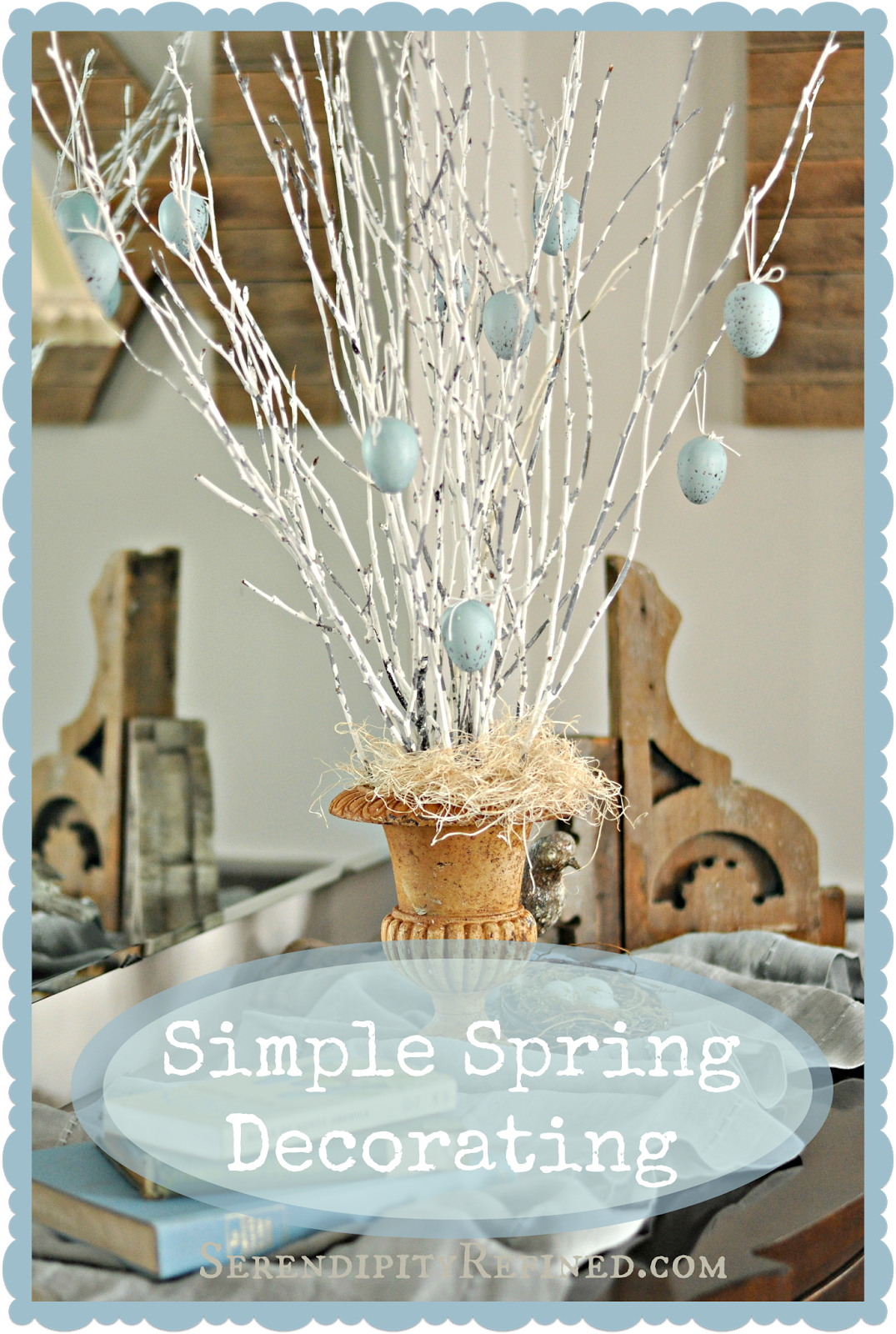 Cheap Spring Decorations: Super Simple Spring Decor: DIY Egg Tree