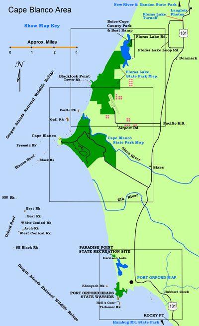 Cape Blanco Map  Cape Blanco State Park  Oregon Lighthouses