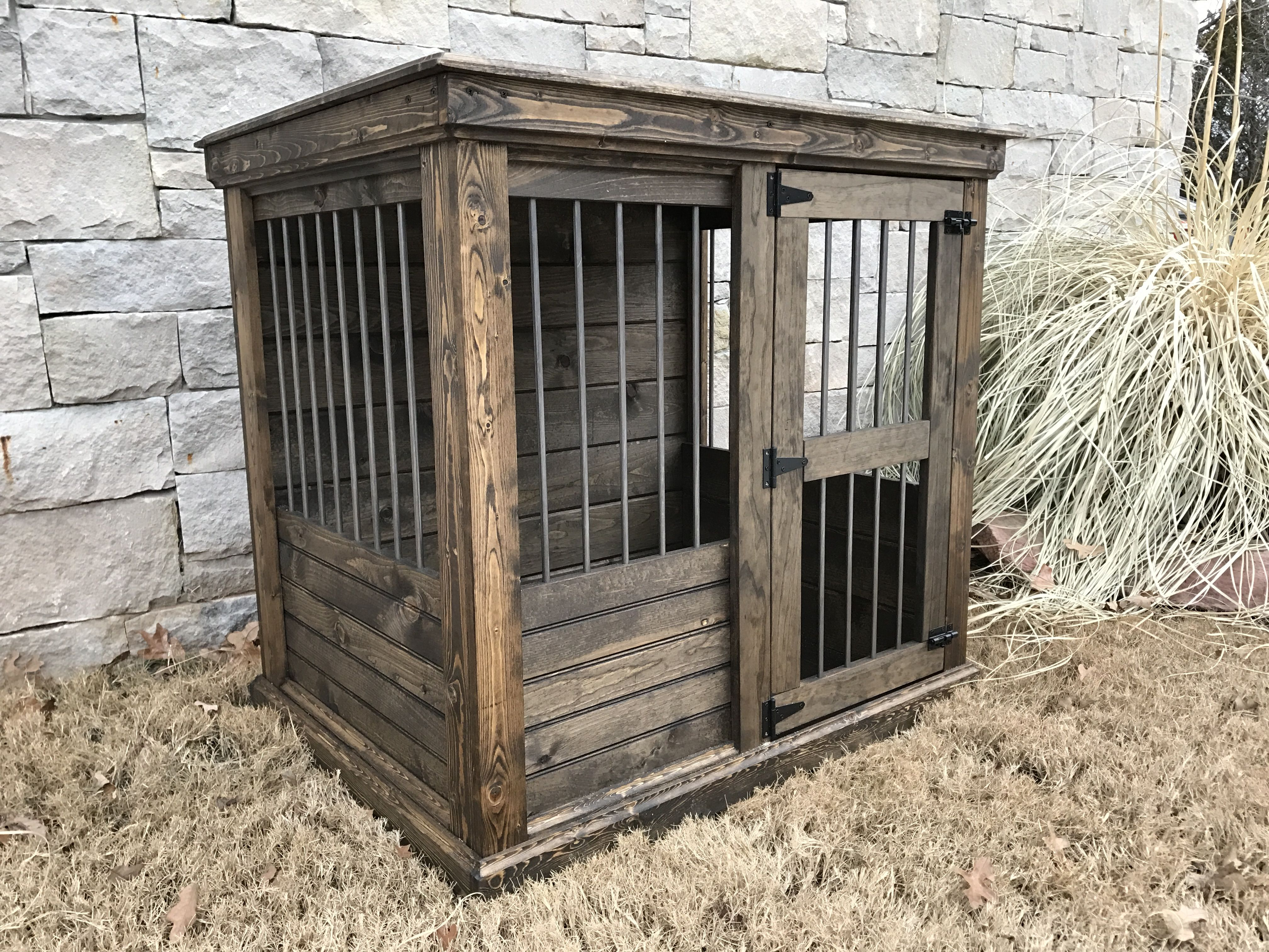 Handcrafted dog kennel and dog crate. Custom dog kennel. Wooden ...