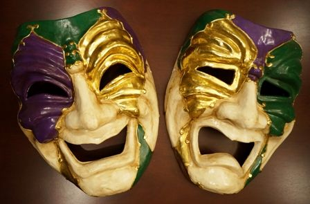 Jumbo Comedy And Tragedy Mardi Gras Mask | Mardi Gras Party Ideas ...