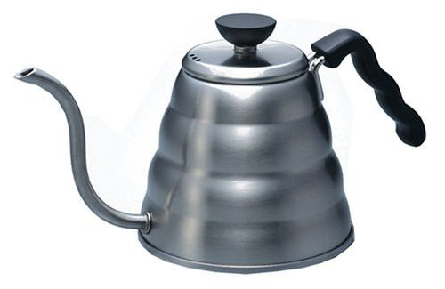 Buono Kettle - The Hario Buono Kettle has a large 1.2l or 1.0l capacity and can be used on an induction hob, or over another heat source or you can decant the water in.