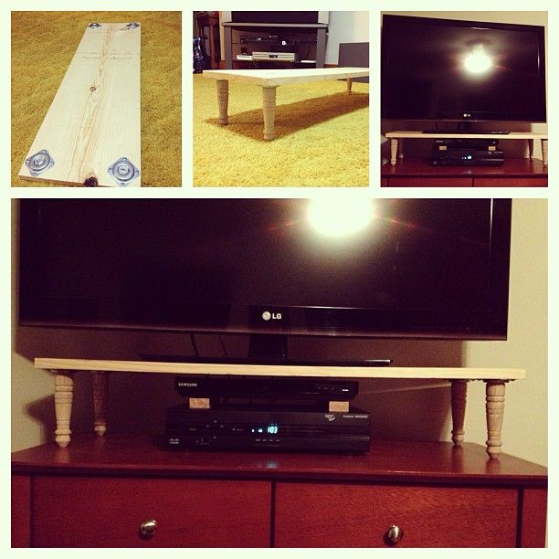 Ideas For Redoing Kitchen Cupboards: My Pinterest DIY TV Riser Project #TVRiser #DIY #Pinterest