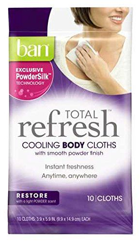 Ban Total Refresh Cooling Body Cloths Restore 20 Count Find Out