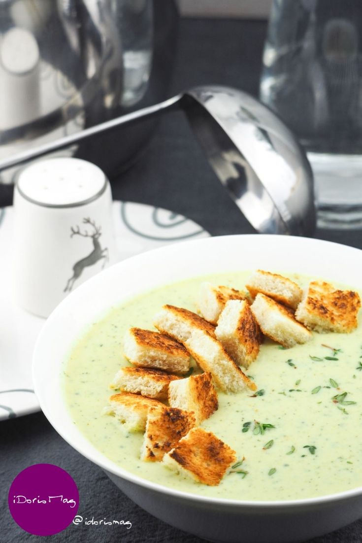 Photo of Creamy zucchini soup (vegan)