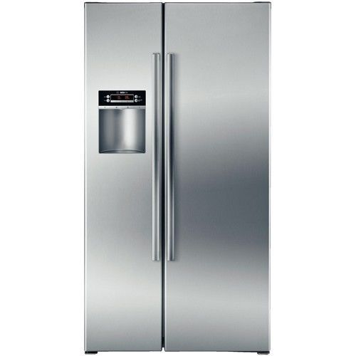 Bosch 300 Series B22cs30sns 22 1 Cu Ft Counter Depth Side By Side Refrigerator Side By Side Refrigerator Locker Storage Home Appliances