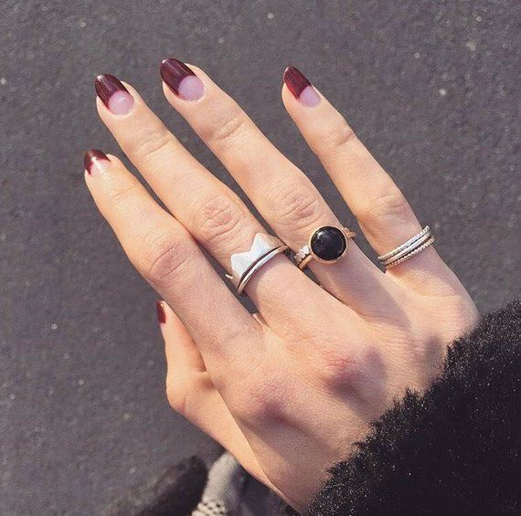 Crown Ring In Sterling Silver Or 18k Gold In 2020 Classy Nails Minimalist Nails Stylish Nails