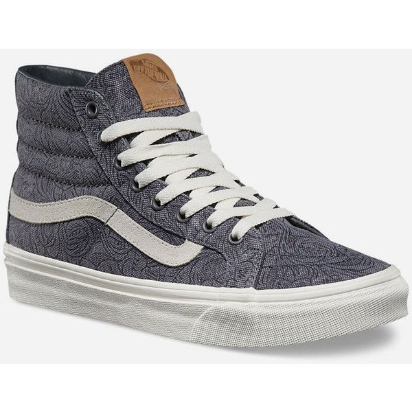 9ee85ce1ae530 Vans Motif Floral SK8-Hi Slim Womens Shoes ( 65) ❤ liked on Polyvore  featuring shoes