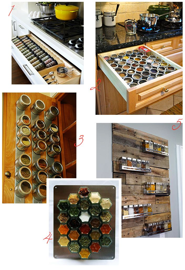 Spice storage for a functional and organised kitchen.