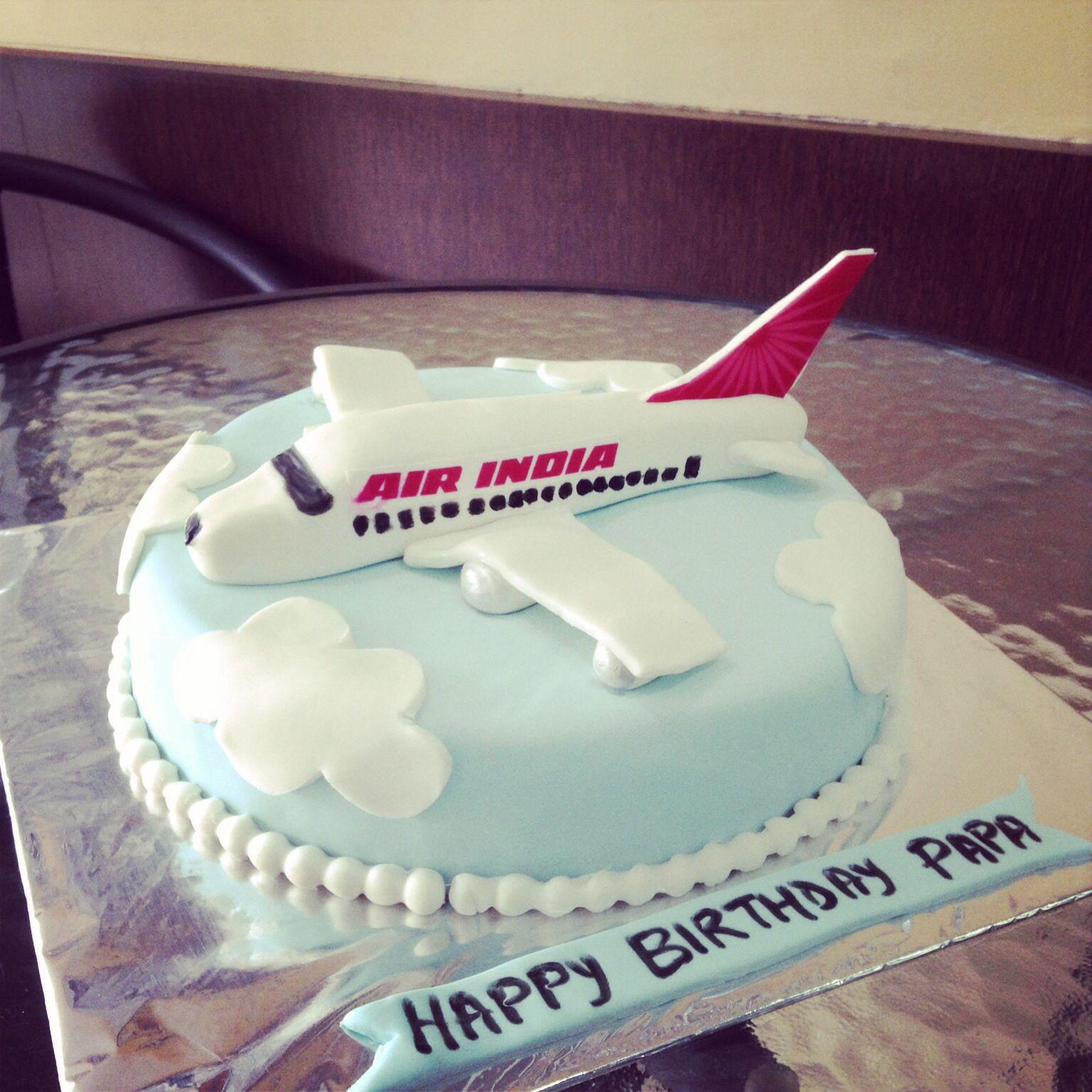 Aeroplane theme cake for a pilot The Sugar FanciesVadodara