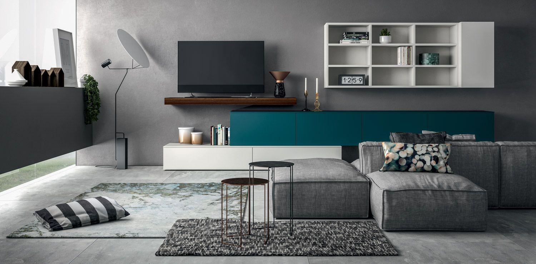 Composizione soggiorno slim di dall 39 agnese lartdevivre arredamento online pareti - Dall agnese mobili classici ...