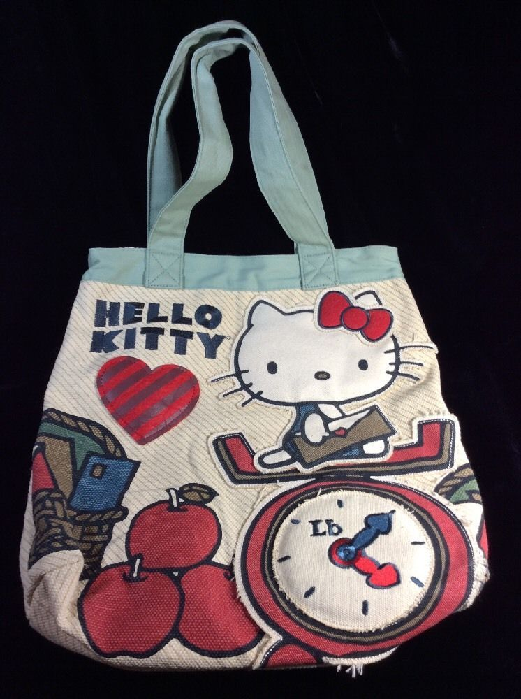 Loungefly Hello Kitty Love Letter Canvas Tote Bag Purse Rare