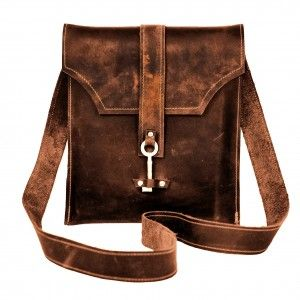 Dark Brown Leather Messenger