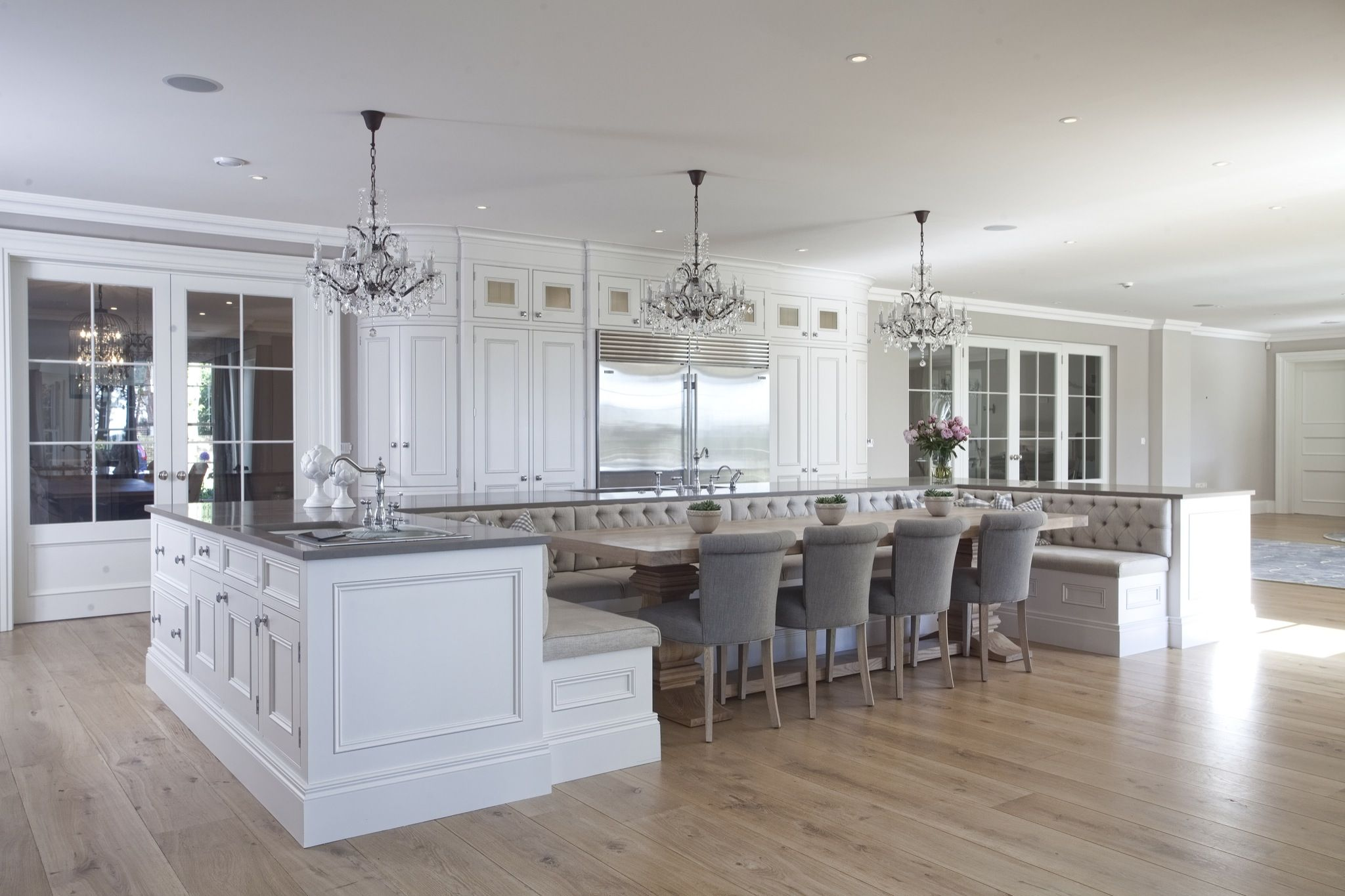 exciting kitchen island seating | 101 Custom Kitchen Designs With Islands - Page 7 of 11 ...