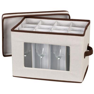 Stemware Storage Chest Flute Canvas With Trim 544 China Storage Storage Bins Mug Storage