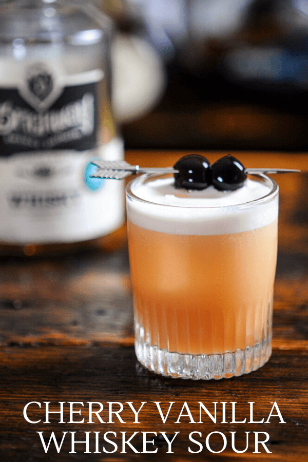 Photo of Cherry Vanilla Whiskey Sour Cocktail | Gastronom Cocktails