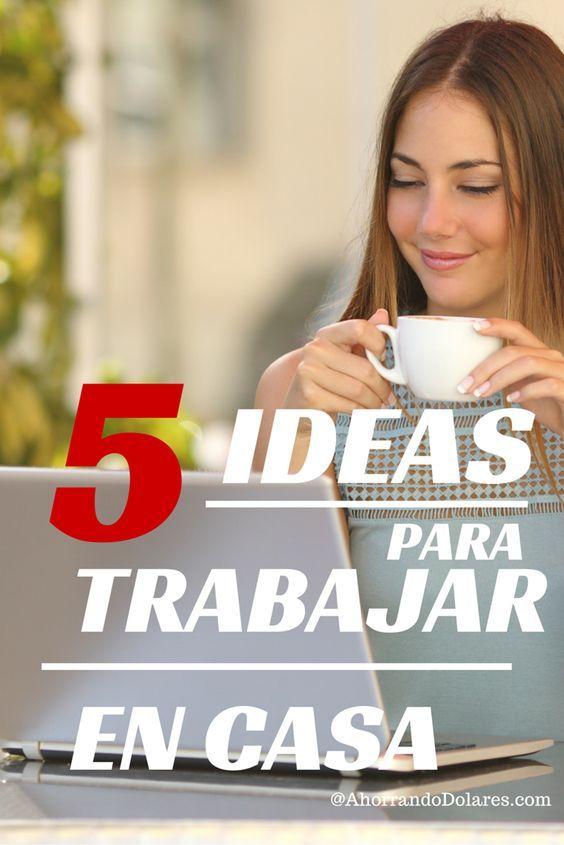 5 Ideas para trabajar desde casa | Espiritu emprendedor, Emprendedor ...