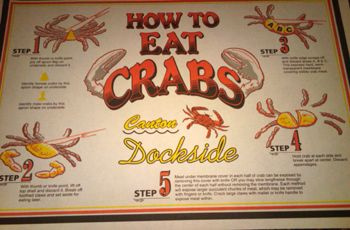 How To Eat Crabs Placemat Eat Crab Good Eats