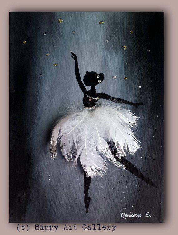 Schwan Ballerina - Geschenk für Kinderzimmer Kinderzimmer Kinder Zimmer Dekor Kinderzimmer Kinderzimmer Aufkleber jungen Zimmer Dekor Mädchen Zimmer Dekor Baby Kunst #shadesofwhite