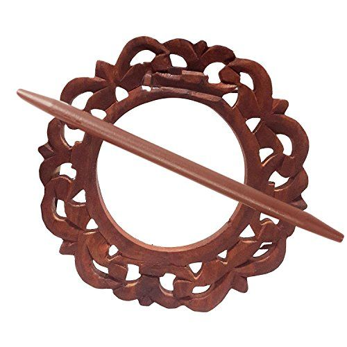 Wooden Curtain Tiebacks Curtain Holder Carving Round Shape
