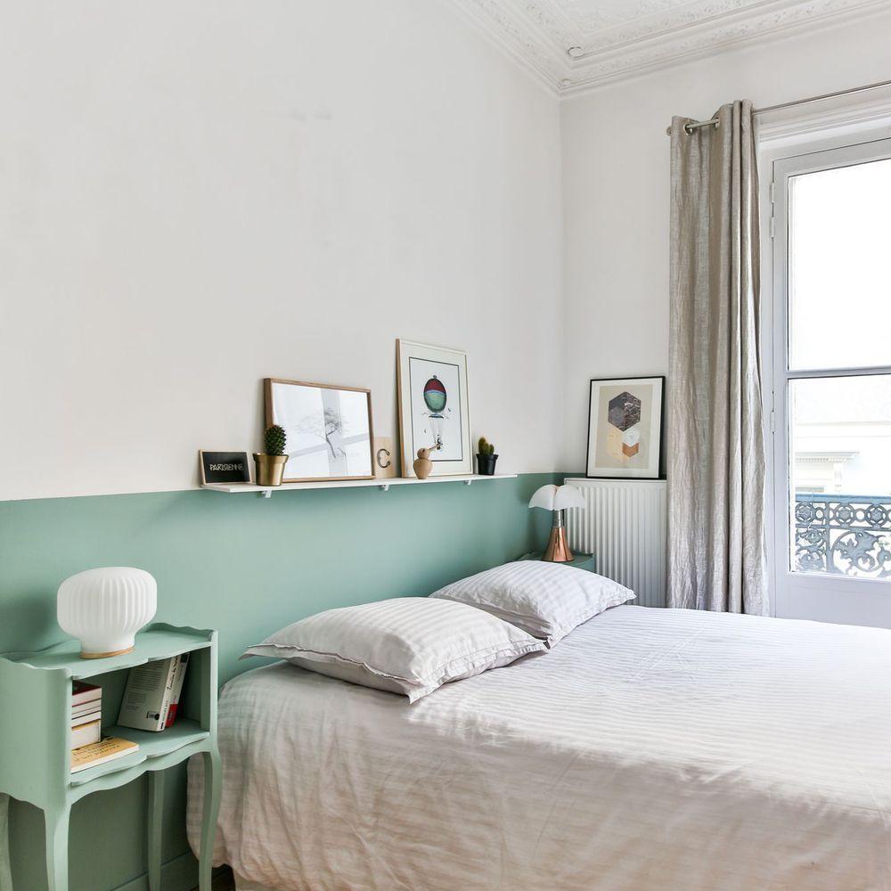 D co chambre blanche id es pour la r chauffer d co vert d 39 eau green bedroom walls bedroom - Deco chambre vert d eau ...