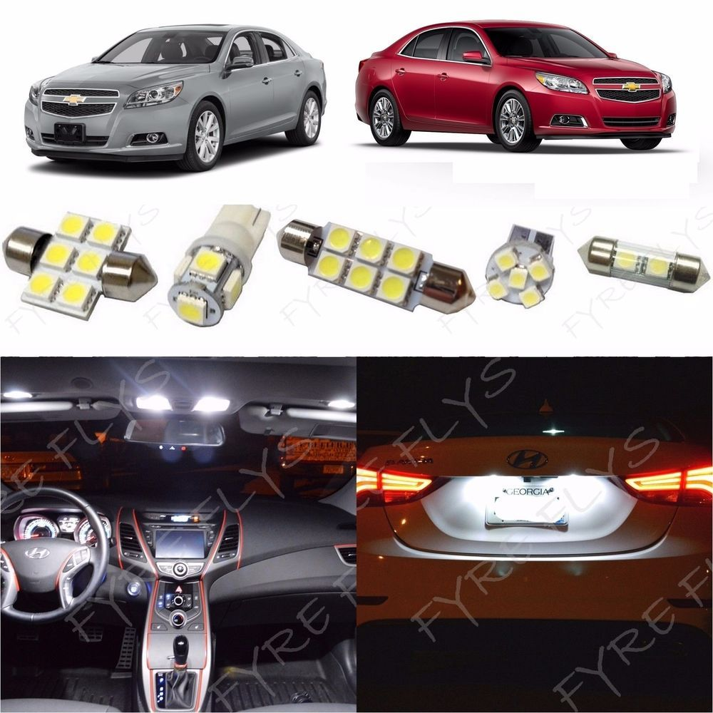 Details about 12x White LED lights interior package kit