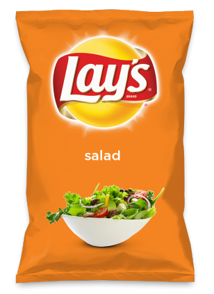 Wouldn't salad be yummy as a chip? Lay's Do Us A Flavor is back, and the search is on for the yummiest flavor idea. Create a flavor, choose a chip and you could win $1 million! https://www.dousaflavor.com See Rules.