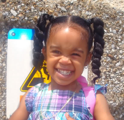 long ponytails hairstyle african american little girls
