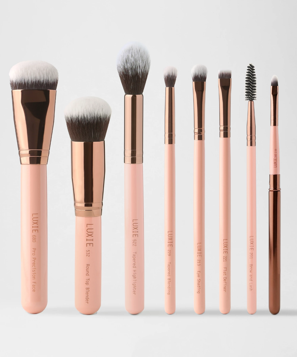 LUXIE Complete Face Brush Set Rose Gold (With images