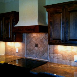 Parade House Kitchen Tumbled Marble Tile Backsplash Venetian