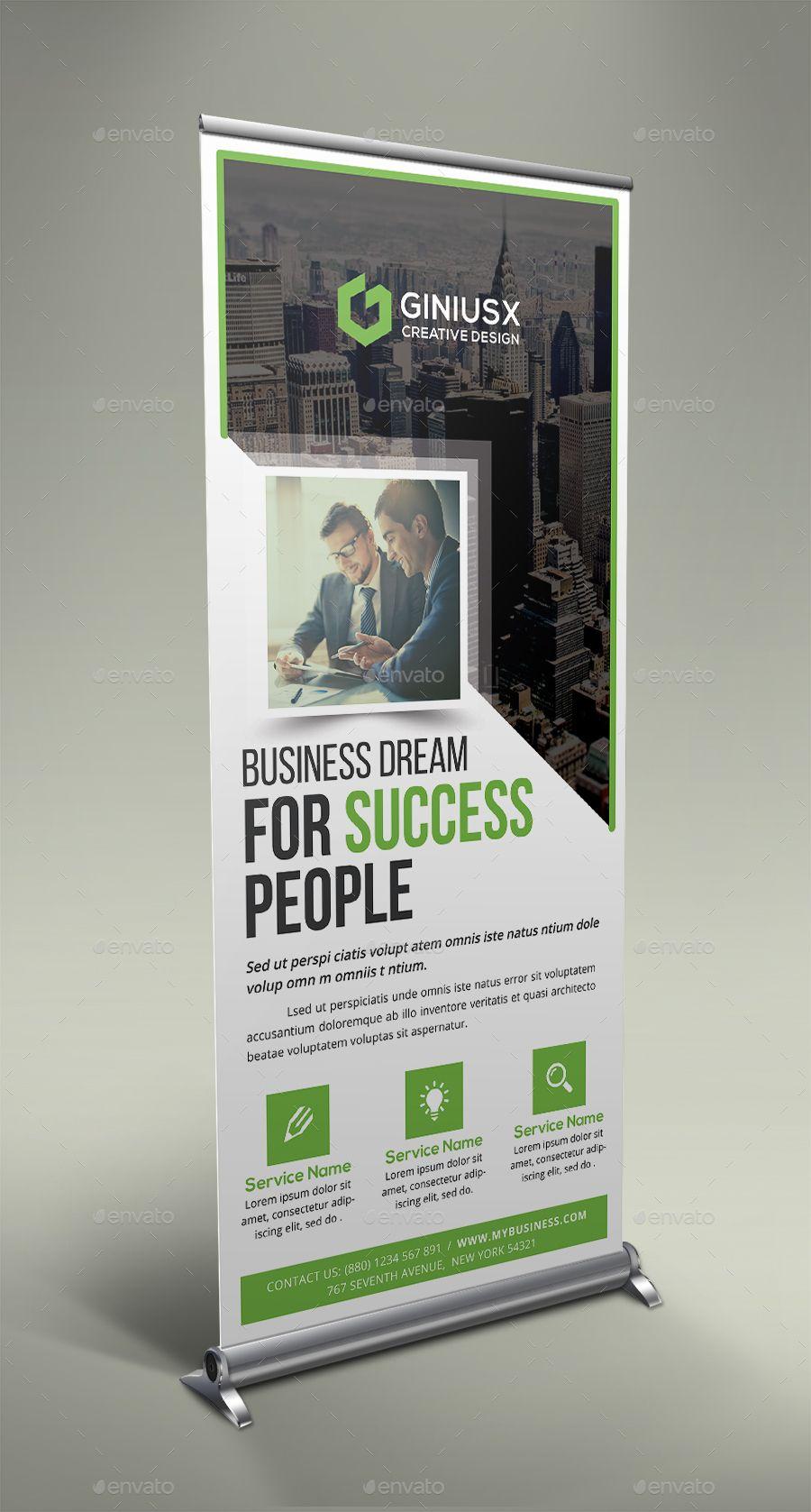 Business Roll Up Banner Brochure Design Template Roll Up Design Banner