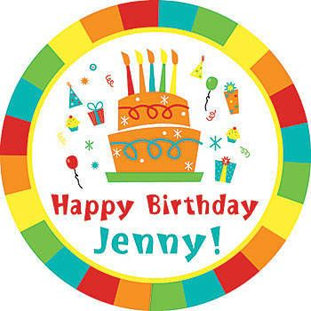 Happy birthday personalized sticker decals