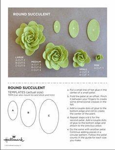 I Love Crafts: Felt Garland Felt with Molds #feltflowertempl ...